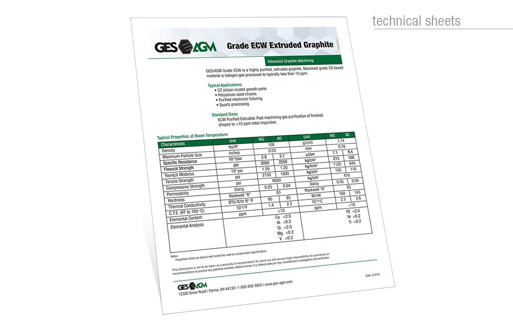 Technical Data sheet design